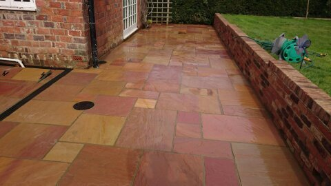 Patio in Robertsbridge, East Sussex